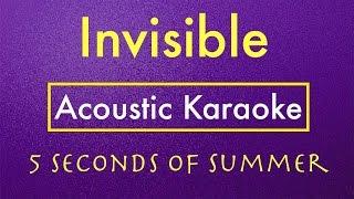 Invisible - 5SOS | Karaoke Lyrics (Acoustic Guitar Karaoke) Instrumental