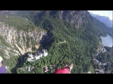 Paragliding over Neuschwanstein Castle