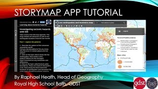 Storymap app tutorial for ArcGIS online