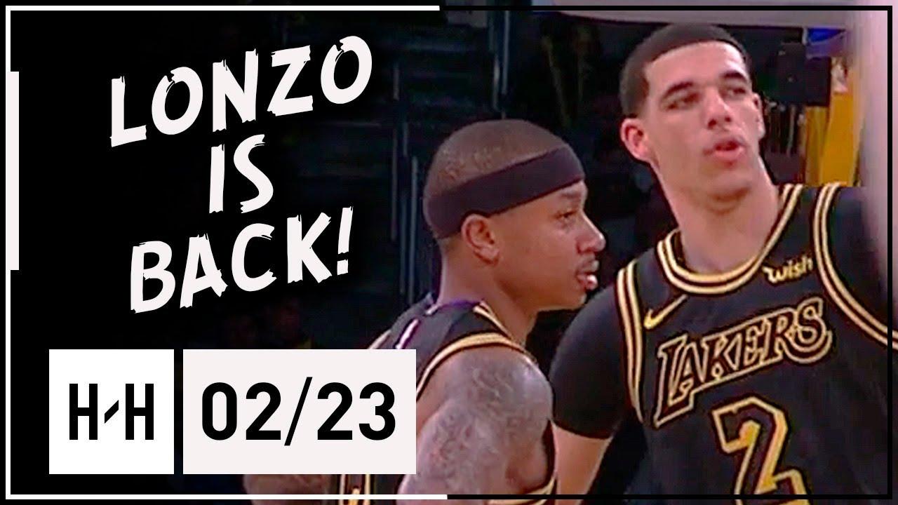 Lonzo Ball Returns Full Highlights Lakers Vs Mavericks 2018 02 23 9 Pts 7 Reb 6 Assists