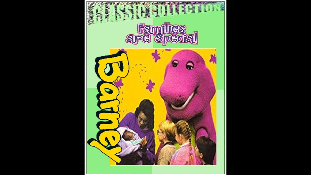 Barney Families are Special Custom Lyrick Stuidos 2000 VHS  (BarneyBYGFriends Version)