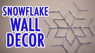 DIY Snowflake Wall Decor - HGTV Handmade