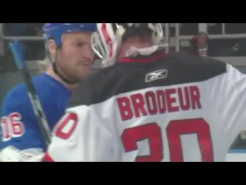 Sean Avery Mouths Off With Martin Brodeur Youtube