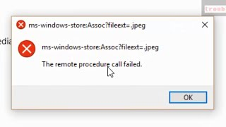 The remote procedure call failed in Windows 10 Microsoft account (Photos ,Windows store app)