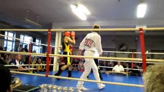 Simon Henriksson - Malmö Muay Thai, Round 3 on BK Fox Boxingevent April 29th 2011