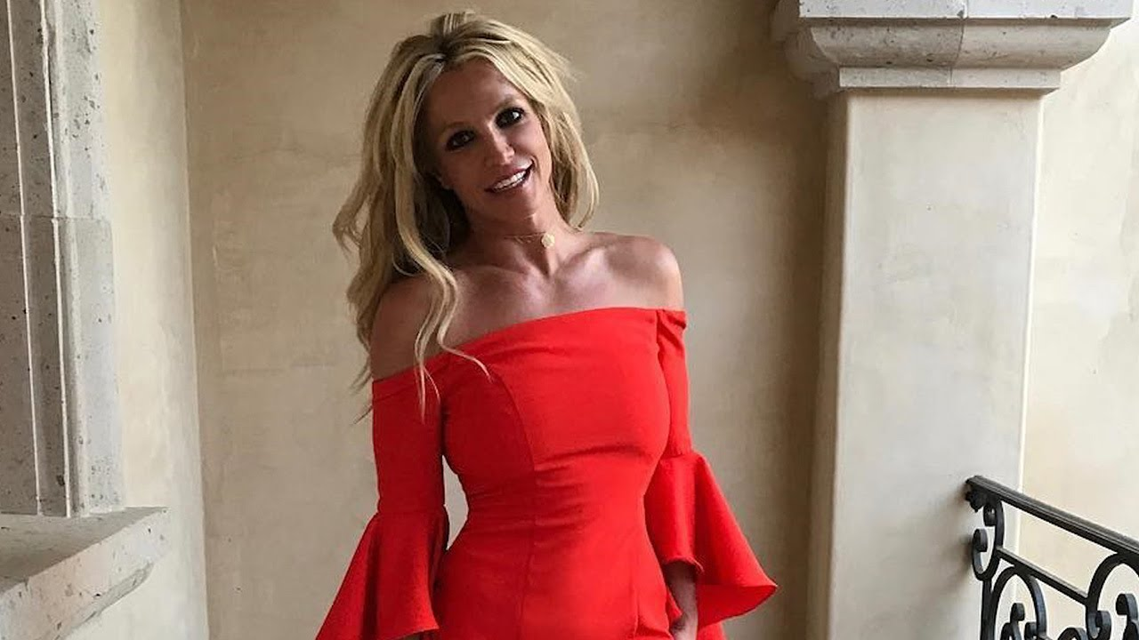 Britney Spears Flaunts Toned Bod In Flamenco Style Dress Watch Her Model The Look Youtube
