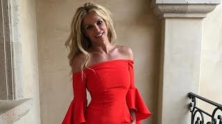 Britney Spears Flaunts Toned Bod in Flamenco-Style Dress -- Watch Her Model the Look!