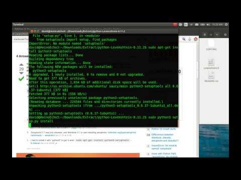 Install Levenshtein for Python 2 & 3 - YouTube