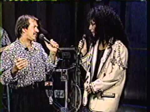 """SONNY AND CHER sing """"I GOT YOU, BABE"""" on David Letterman 1980's  late night"""