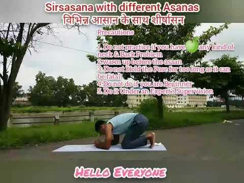 sirsasana with many other asanas  youtube