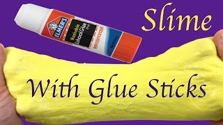DIY How To Mąke Fluffy Slime With Glue Sticks And Shaving Gel Without Borax,Liquid Starch or Shampoo