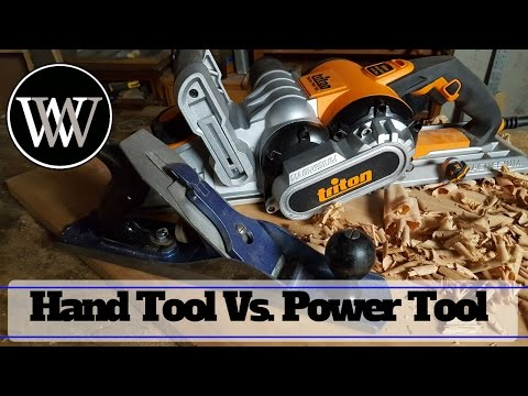 Power Tool Vs Hand Tool - Power Planer and Scrub Plane Which Tools are Better in a Woodworking Shop