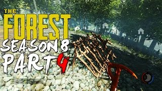 The Forest Alpha 0.08 Season 8 Episode 4 - Rabbit Trap + Supply Shed + Treehouses!
