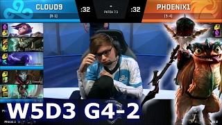 phoenix1 vs cloud 9 game 2   s7 na lcs spring 2017 week 5 day 3   p1 vs c9 g2 w5d3 1080p