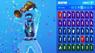 'UPDATE' Fortnite Breakpoint Skin Showcase with All Dances - Emotes 'Demande d'abonné'