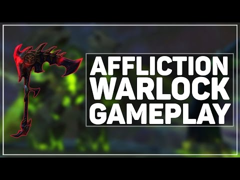 WoW Legion Alpha: Affliction Warlock Gameplay (Talents, Abilities & Artifact)