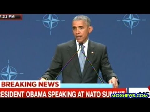 """""""NATO IS INCREASING OUR SUPPORT TO THE UKRAINE!"""" Obama Press Conf In Warsaw"""