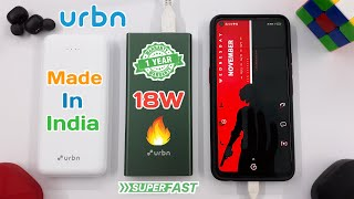 URBN 10000mAh Power Bank Metal Body amp Polycarbonate Body Unboxing amp Review 18W Fast Charging