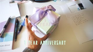 My 1 Year Anniversary Gifts For Her (diy Exploding Box)