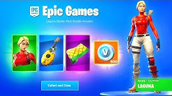 new fortnite starter pack rewards laguna skin 600 v bucks wrap more fortnite battle royale duration 10 09 - when is the next starter pack for fortnite
