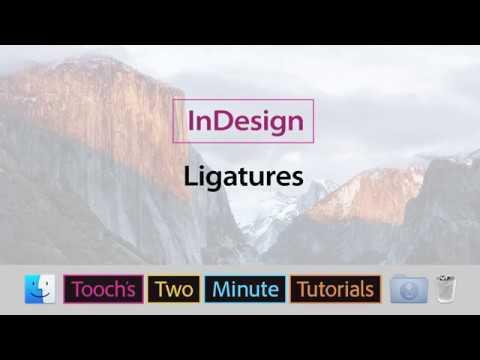 InDesign - Ligatures
