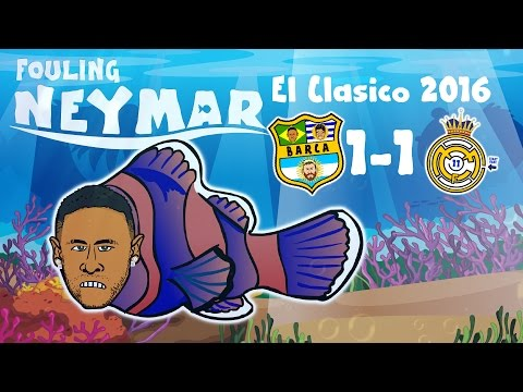 Thumbnail: FOULING NEYMAR! Barcelona 1-1 Real Madrid - the MOVIE! (El Clasico 3.12.2016)