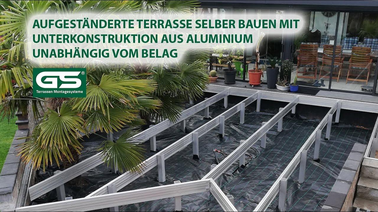 Aufgeständerte Terrasse Unterkonstruktion selber bauen aus ...