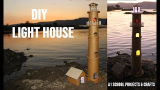 DIY Lighthouse Using Cardboard and LED Torch | A1 School Projects & Crafts