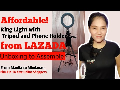 Download Affordable Ring Light With Tripod  & Phone Holder from Lazada (Unboxing + Assemble)| RUTH ALMENDRAS