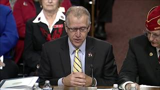 Senator Tillis Introduces the American Legion National Commander During Veterans' Affairs Hearing
