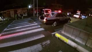 愛知県 自動車事故 パトカー集結 愛知県警察