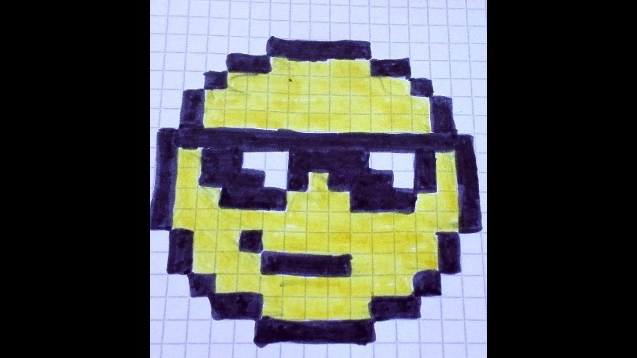 Pixel Art Smiley A Lunette
