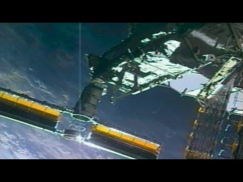 "Astronauts ""MacGyver"" Ripped Solar Array Repair"