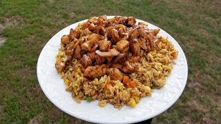 How to Make Hibachi Chicken and Fried Rice | Teppanyaki Style | Weber Grill | Slow N Sear