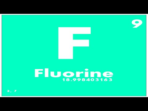 Study Guide 9 Fluorine Periodic Table Of Elements Youtube
