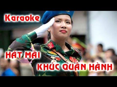 Karaoke Beat chuẩn | Hát Mãi Khúc Quân Hành | Diệp Minh Tuyền