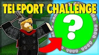 TELEPORT ONLY CHALLENGE (ROBLOX SUPER POWER TRAINING SIMULATOR)