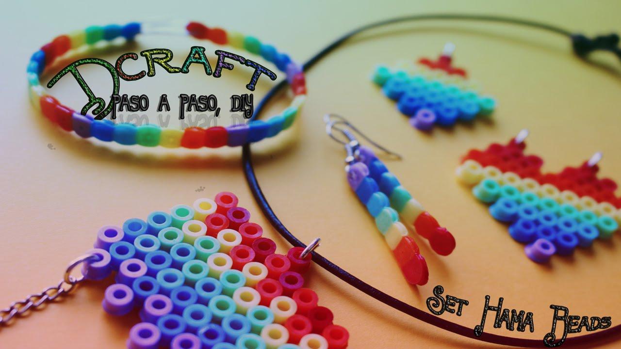 Como hacer collar de hamma beads tres dise os con conjunto - Manualidades para hacer ...