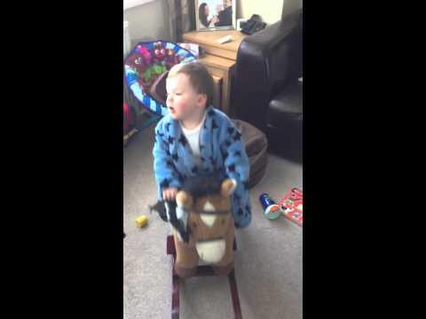 Birthday boy on his horse...