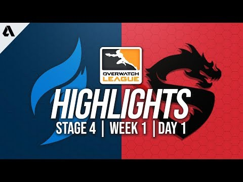 Dallas Fuel vs Shanghai Dragons   Overwatch League Highlights OWL Stage 4 Week 1 Day 1