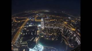 Sunset Time-Lapse in Dubai Burj Khalifa / Dubai Mall