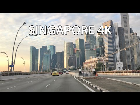 singapore-4k---driving-downtown---morning-drive