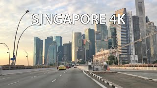 Singapore 4K - Driving Downtown - Morning Drive
