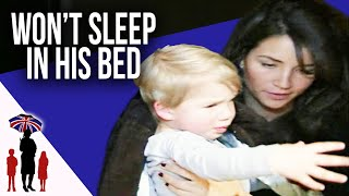 21 month old boy refuses to sleep in his own bed - Supernanny USA