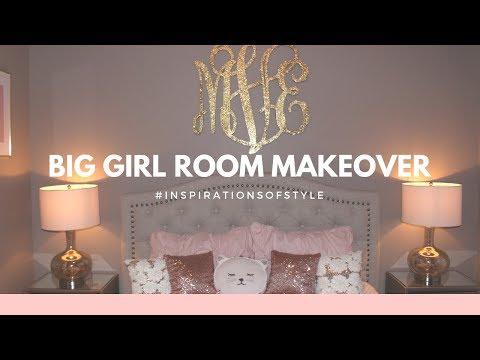 Girl Room Makeover | Blush & Gold - Melissa Emily