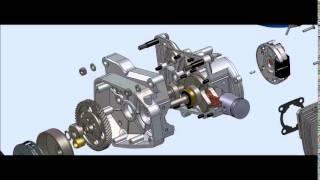 motore minarelli su cad solidworks motor engine rendering politecnico di torino polito meccatronica