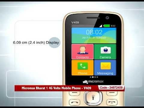 competitive price 79b8e 1b1a6 Micromax Bharat 1 4G Volte Mobile Phone - V409
