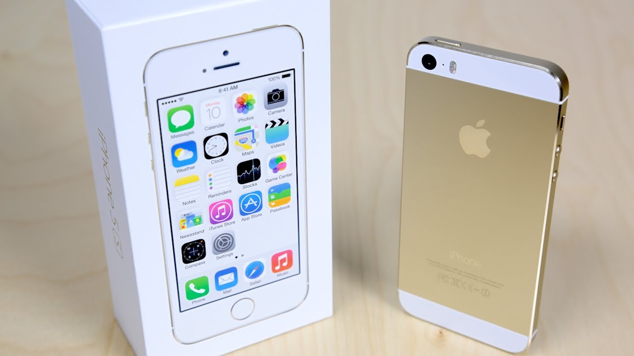 IPhone 5s Unboxing Gold Edition