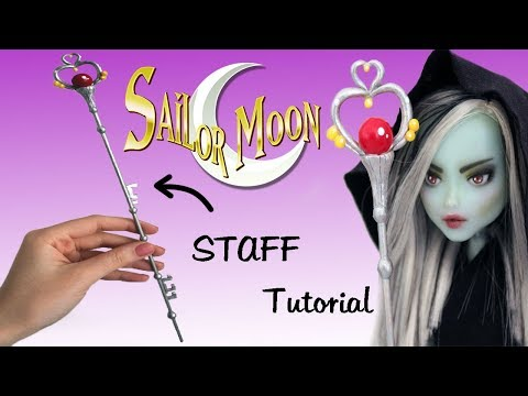 SAILOR PLUTO STAFF for your DOLL! / Tutorial
