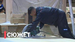 Как строят дома для пострадавших в селе Бяс-Кюель Горного района Якутии?